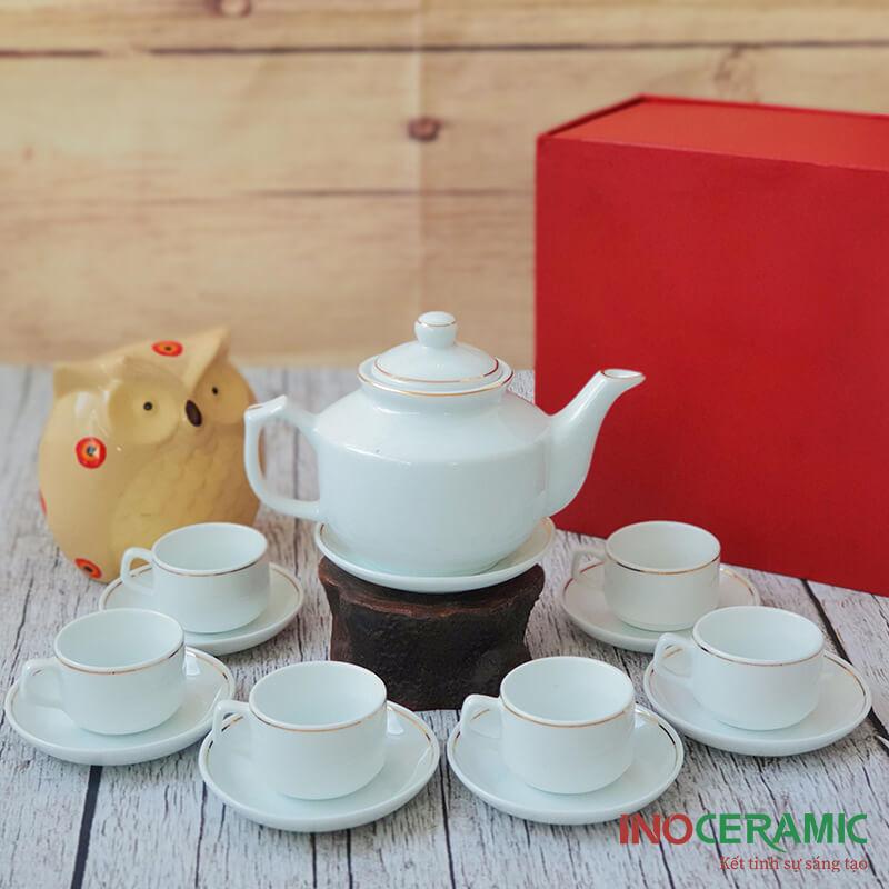 Bộ trà Hong Kong viền kim