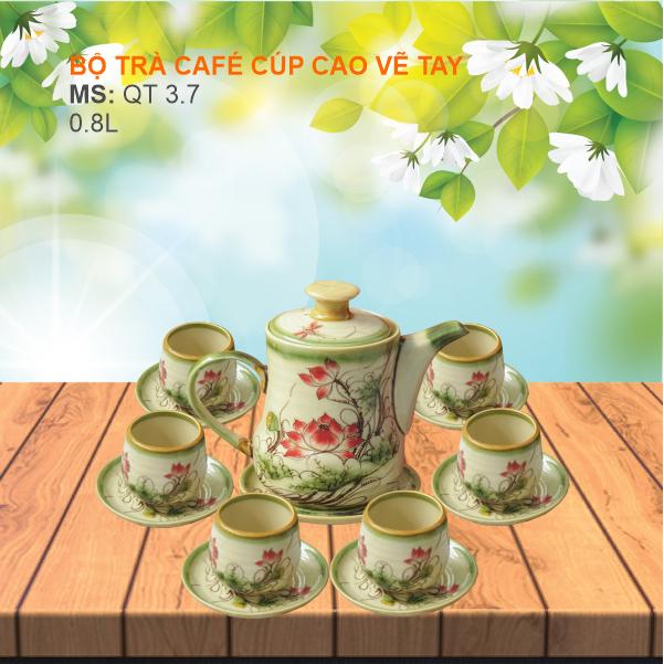 Bộ Trà Cafe Cup Cao