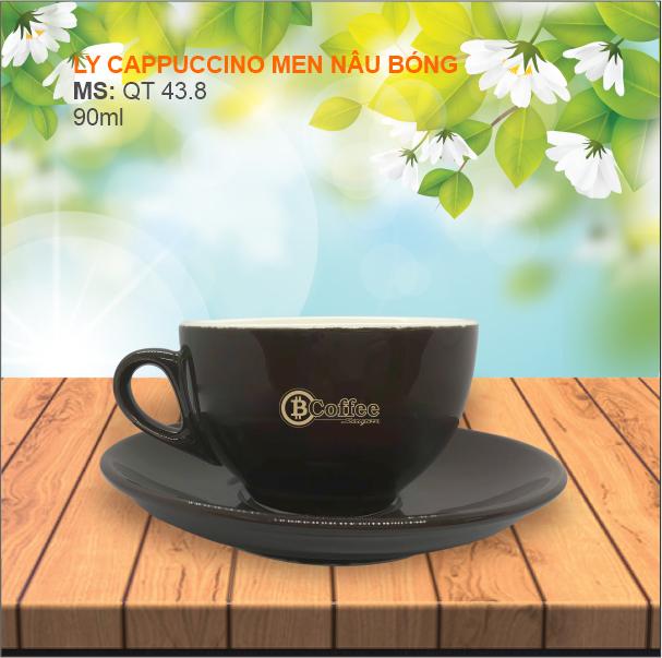 Ly cappuccino Nâu Bóng