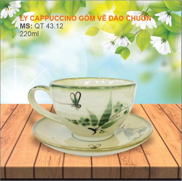 Ly cappuccino Đào Chuồn