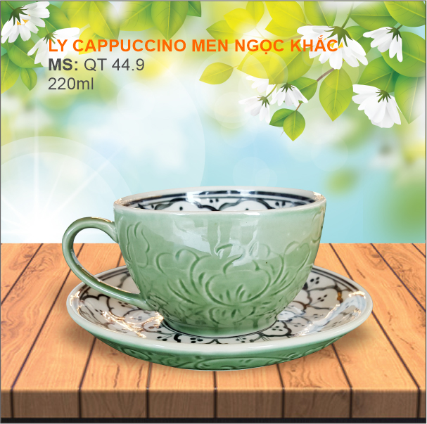 Ly cappuccino Khắc Ngọc